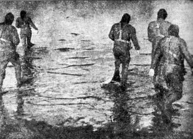 16. Duitse kikvorsmannen belagen de bruggen